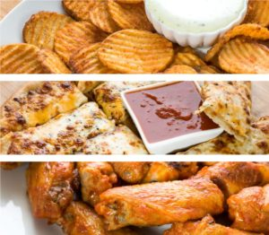 Pizza appetizers and sides