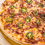 Pizza Planet's jalapeno bacon pizza