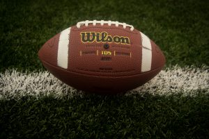 wilson football on field superbowl VIII